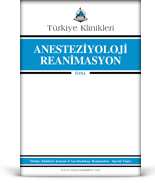 Turkiye Klinikleri Journal of Anesthesiology Reanimation Special Topics