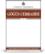 Turkiye Klinikleri Journal of Thorasic Surgery Special Topics (E-Journal)
