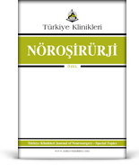 Turkiye Klinikleri Journal of NeuroSurgery Special Topics