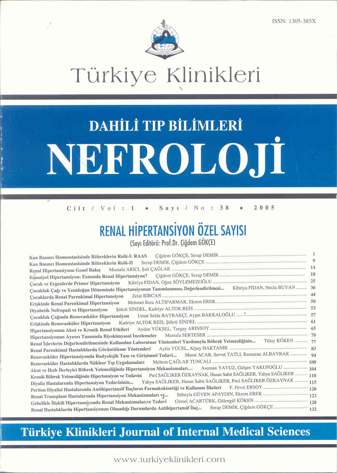 T U00fcrkiye Klinikleri Dahili T U0131p Bilimleri Dergisi 2005