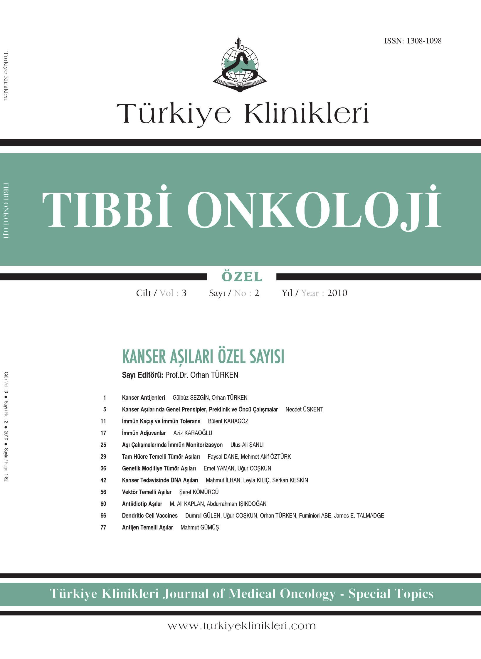 Turkiye Klinikleri Medical Oncology Special Topics Archieve